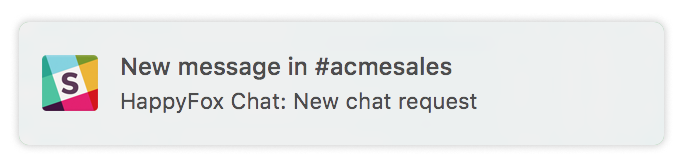 new chat request notification
