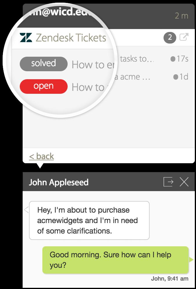 zendesk HappyFox Chat Integration