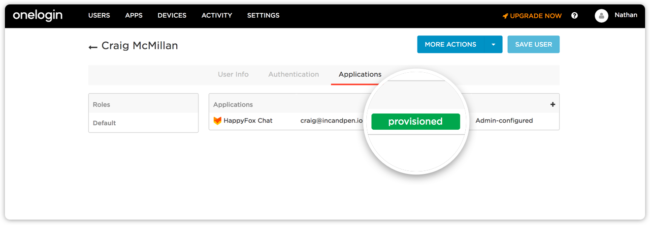 Automatically add and remove agents in HappyFox chat from a centrally managed OneLogin account
