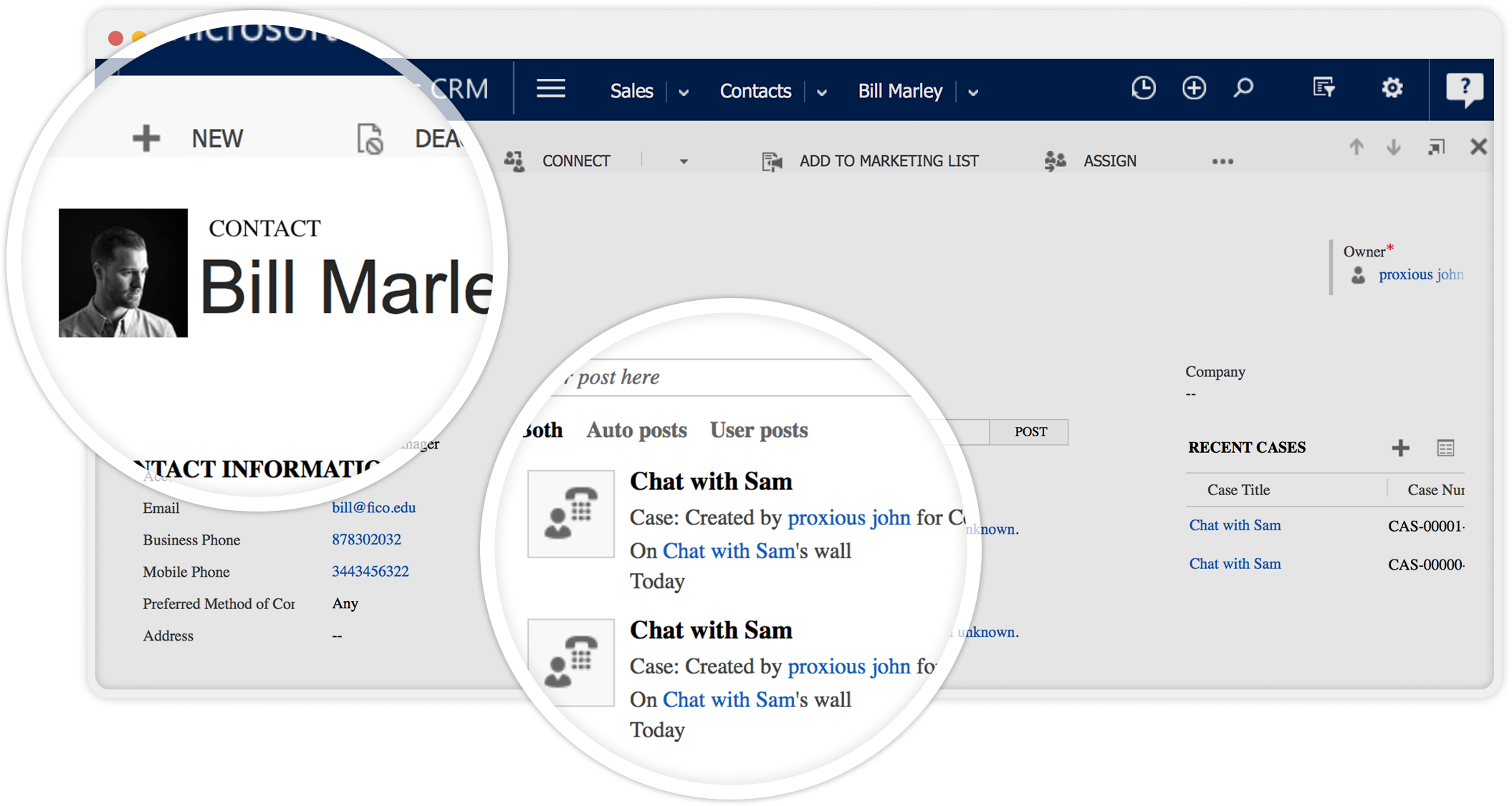 Chat transcripts on Microsoft Dynamics CRM