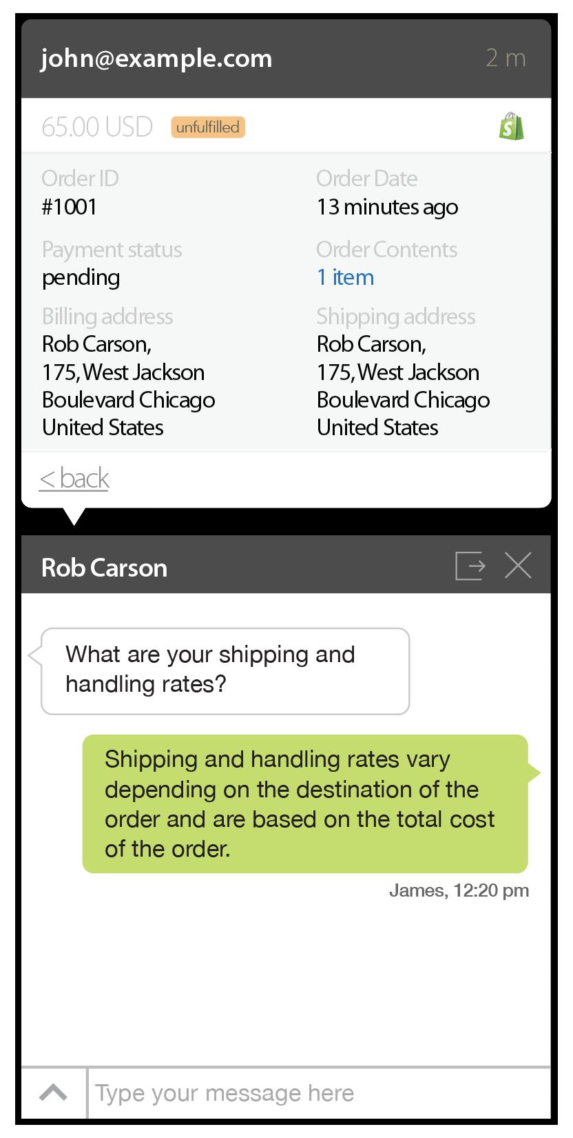 Shopify Screen