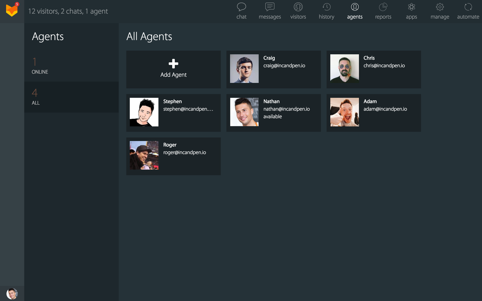 Manage agents from Onelogin
