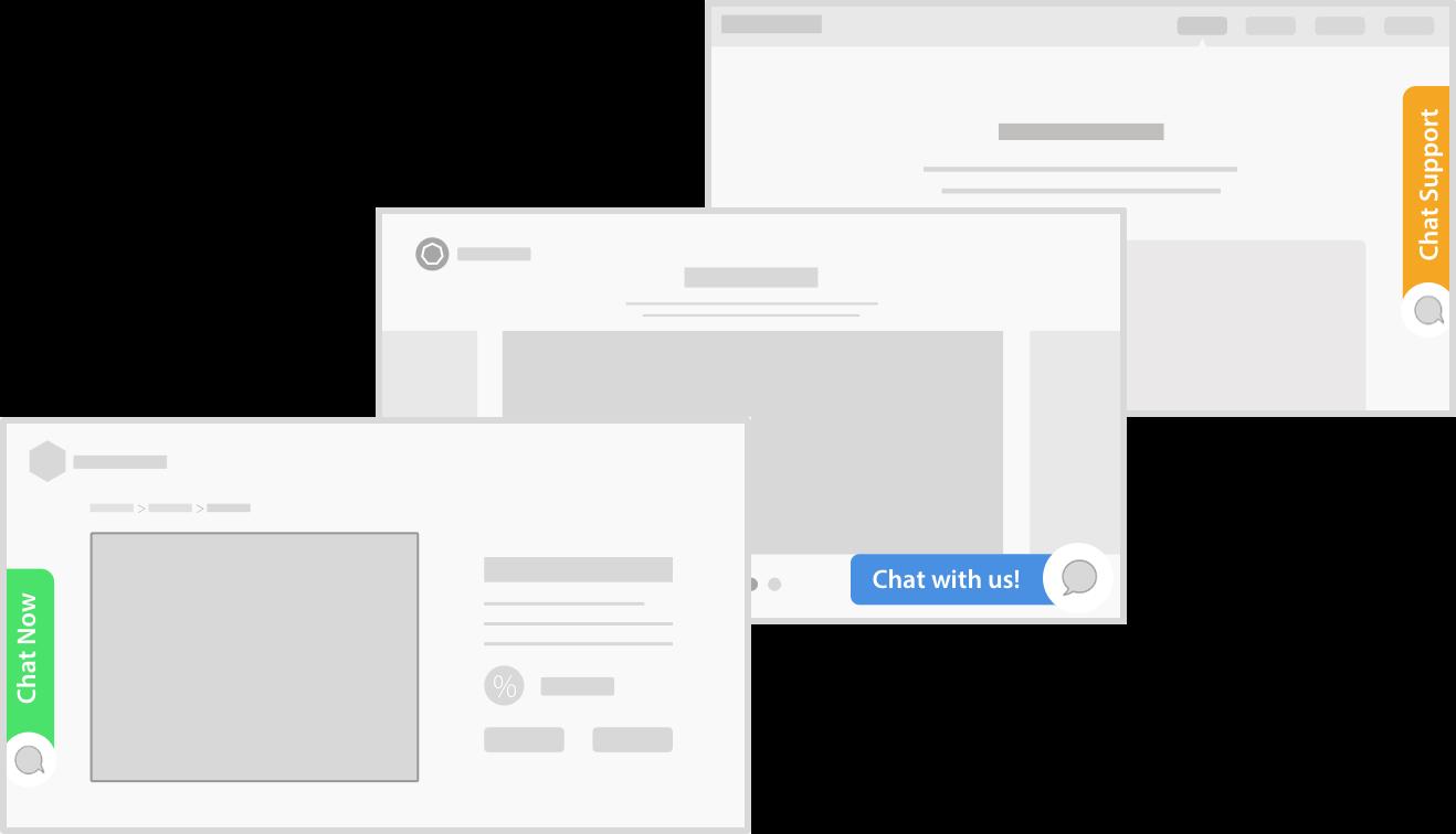 live chat widget Positions