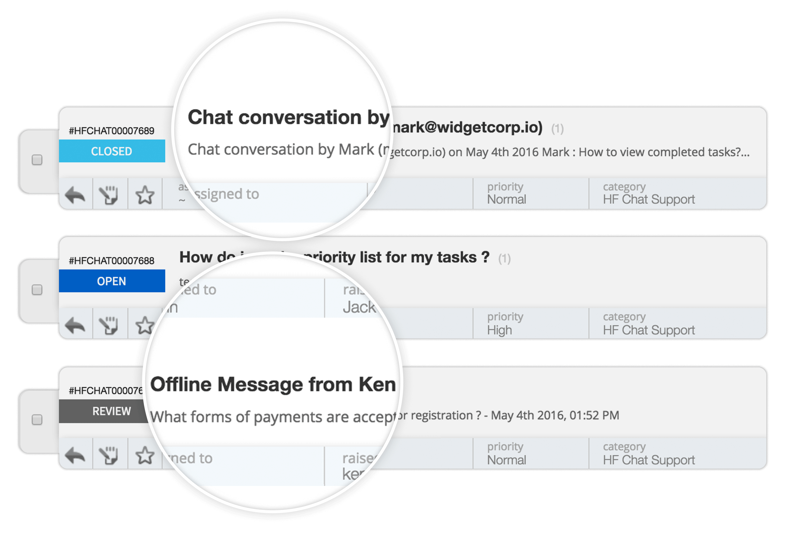 Convert all live chat conversations into help desk tickets