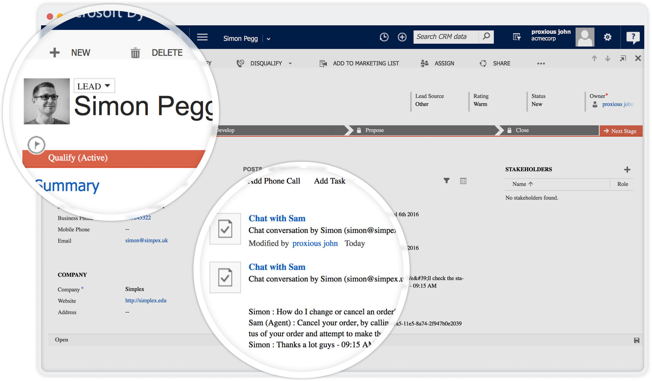 Automatically add contacts or leads in MS dynamics CRM